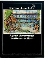 1970's Event Restaurant Menu Pack Sheraton Lincoln Inn Worcester Massachusetts