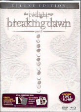 THE TWILIGHT SAGA BREAKING DOWN - PARTE 1 DE LUXE EDITION (2 DVD+BLU-RAY) NUOVO