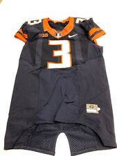 Game Worn Used Illinois Fighting Illini Football Jersey Nike Size 42 #3