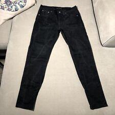 Mens NUDIE LEAN DEAN Organic Cotton Wash Skinny Jeans - Dry Cold Black - W31/L30