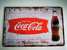 COCA COLA  EMBOSSED ADVERTISING TIN SIGNS NEW. 002