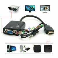 HDMI maschio a VGA Con Audio Video HD Cavo Adattatore Convertitore 1080P per PC