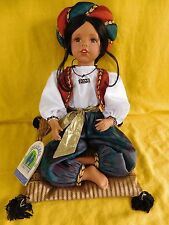 Treasures Forever Jai Doll # 36 of 1500 by William Tung Indian Girl with Pillow