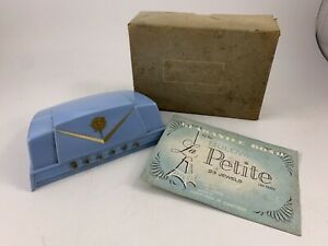 Vintage Pale Blue Plastic Bulova Watch Case With Original Box (Box & Case Only)