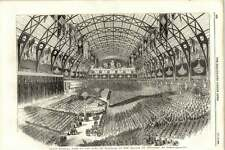 1855 Grand Musical Fete To The King Sardinia Palace Of Industry Paris