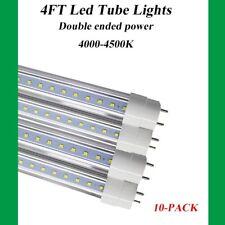 10-Pack 4FT T8 LED Tube Light Fluorescent Replacement Lamp Clear Lens 4000K