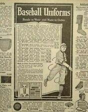 1917 Antique Baseball Uniforms Equipment Art Golf Sears Catalog Page Print Ad