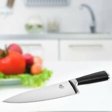 Professional Chefs Kitchen Knife 8 Inch German Steel Sharp Blade w/ Black Handle