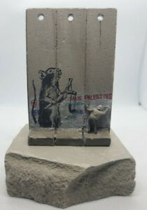 Banksy Rat FREE PALESTINE Original Direct  From Walled Off Hotel With Receipt