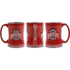 Ohio State Buckeyes Coffee Mug Relief Sculpted Team Color Logo - 14 oz NCAA NEW