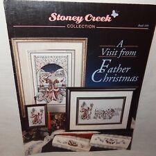Visit from Father Christmas Cross Stitch Leaflet 109 Stoney Creek Santa 1993