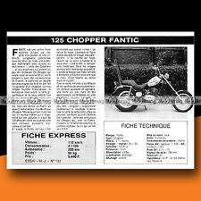 ★ FANTIC 125 CHOPPER ★ 1976 Essai Moto / Original Road Test #c63