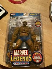 The Thing Marvel Legends Toy Biz MIP Fantastic Four 4 Series 2 2002 Comic Base