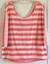 American Eagle Striped Low Back Top Choker Cowl Cage Reversible Off Shoulder XL