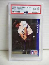 1992 Pro Set Fred Couples PSA NM-MT 8 Golf Card #1 PGA Tour