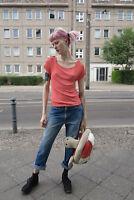 Aigner Damen T-shirt Top aprikot 90er TRUE VINTAGE 90s Women's shirt Gr. 40