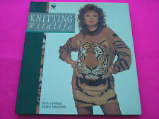 COLLECTABLE KNITING BOOK 'KNITTING WILDLIFE' BY 'RUTHHERRING & KAREN MANNERS'