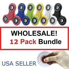 Wholesale Lot 12x Fidget Hand Tri Finger Spinner Spin Stress Desk Kids Toy Favor