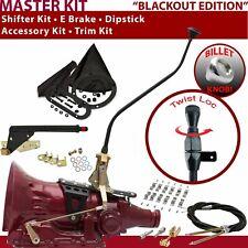 700R4 Shifter Kit 23 Swan E Brake Cable Clamp Trim Kit Dipstick For EA8AB 904