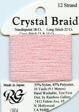 Rainbow Gallery Crystal Braid #Cr04 Pink Pearl Metallic Thread #12 15yds