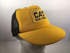 Vintage CAT Caterpillar Diesel Power Mesh Trucker Hat Cap with Patch Snapback