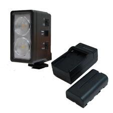 Lusana Studio 6W LED VIDEO LIGHTING KIT DIGITAL CAMCORDER LIGHT LE6