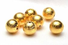 Natural Gibeon Iron Meteorite Round Gold Plated Bead Only One 8mm 1.8Grams
