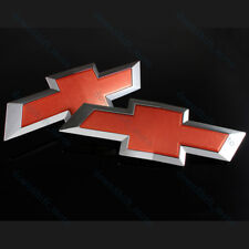 Red Front & Tailgate Bowtie Emblem Set For 2016-2019 GM Chevy Silverado 1500 New