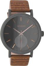 OOZOO Damen Uhr C9188  Braun/Schwarz  - Vintage Lederband -  42mm - WINTER 2017
