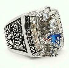 New listing Super Bowl New England Patriots Men's Ring (2003) In Solid 935 Argentium Silver