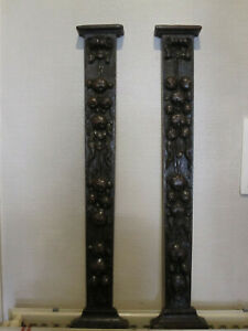 PAIR OFFBEAUTIFULL CARVED COLUMS  19TH CENTURY FRENCH