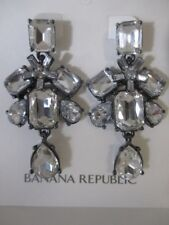Banana Republic Deco Crystal Drop Statement Earrings NWT $49