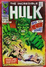 INCREDIBLE HULK 102 MARVEL SILVER AGE 1968 Big Premiere Issue Origin Retold vg/f