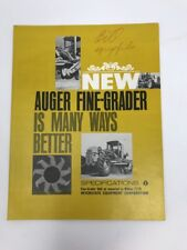 Vintage Brochure Auger Road Motor Grader Brochure Spec Wabco 777b