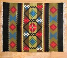 "VINTAGE HAND LOOMED SMALL AREA RUG/WALL HANGING 24"" X 20"""