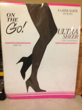 Wow! Vintage On the Go off black Pantyhose xl queen