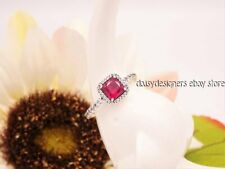 PANDORA With Synthetic Ruby and Clear CZ 190947sru-50 Size 5