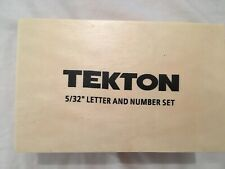"""Tekton Steel Alphabet Letters and Numbers Punch Craft Hobby Kit 5/32"""" Set"""