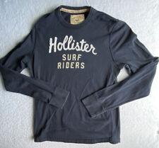 Hollister Surf Riders Shirt XL Navy Long Sleeve Cotton Surfing Beach Summer 35E