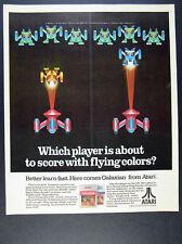 1983 Atari GALAXIAN 2600 5200 Video Game vintage print Ad
