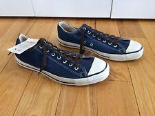 Vintage Converse Blue Canvas & Rubber 1980's Men's Chuck Taylor's Sneakers 12 M