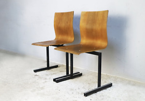 1970's mid century Danish stackable chairs by Niels Larsen Moller - 30 available