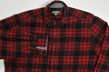 Eddie Bauer Mens Flannel Buffalo Shirt Plaid Red Black XL
