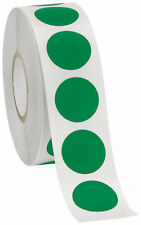 Self Adhesive Labels 34 Dot Circle Stickers Green 2000 Labels 2 Rolls Blank