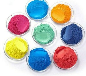 COSMETIC MICA POWDER PIGMENT - CANDLE WAX, SOAP & BATHBOMBS DYES  - 10G COLOURS