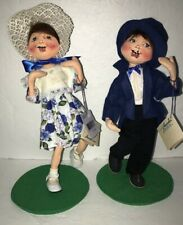 """ANNALEE EASTER DOLLS- 13"""" JACK AND JILL SUNDAY BEST New With Tags"""