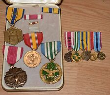 VINTAGE LOT MILITARY Merit Medal awards ribbons pins AIR FORCE Joint service