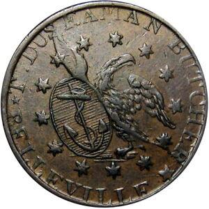 1837 Belleville New Jersey Canada Hard Times Token Duseaman HT-204 Breton 670