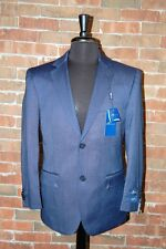 40 L SLIM FIT STUDIO 18  BRAND NEW MENS NAVY BLUE PIN DOT  2 BUTTON 2 PIECE SUIT