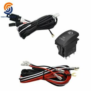 Red Led Fog Light Wiring Harness Fuse Laser Rocker Switch Relay And With Fuse US